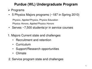 Purdue (WL) Undergraduate Program