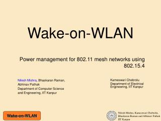 Wake-on-WLAN