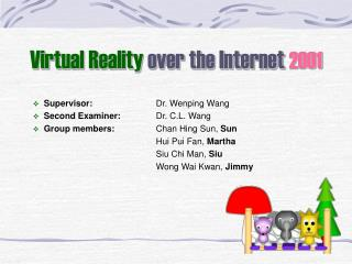 Virtual Reality  over the Internet  2001