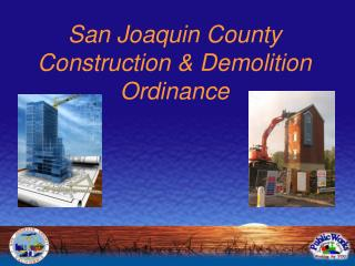 San Joaquin County Construction & Demolition Ordinance
