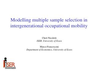 Modelling multiple sample selection in intergenerational occupational mobility