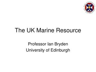 The UK Marine Resource