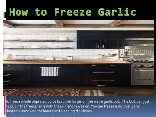 how to freeze garlic