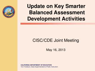 CISC/CDE Joint Meeting May 16, 2013