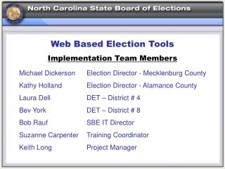 Web Based Election Tools