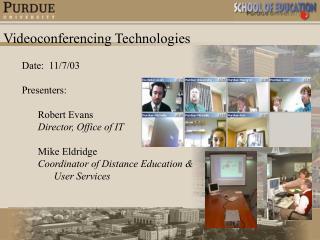 Videoconferencing Technologies