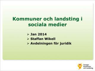 Kommuner och landsting i sociala medier