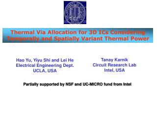 Thermal Via Allocation for 3D ICs Considering Temporally and Spatially Variant Thermal Power