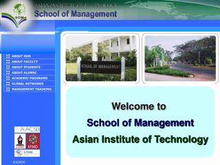 Welcome to  School of Management Asian Institute of Technology