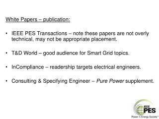 White Papers – publication:
