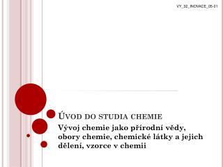 �vod do studia chemie