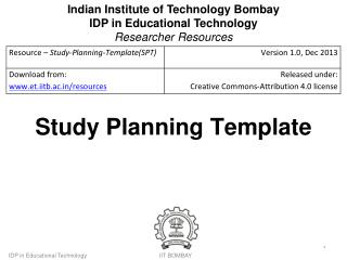 Study Planning Template