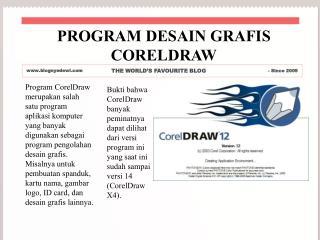 PROGRAM DESAIN GRAFIS CORELDRAW