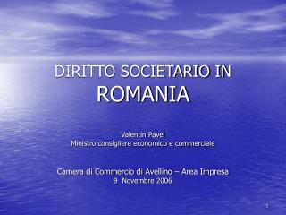 DIRITTO SOCIETARIO IN ROMANIA