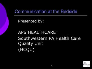 Communication at the Bedside
