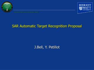 SAR Automatic Target Recognition Proposal