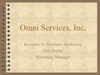 Omni Services, Inc.