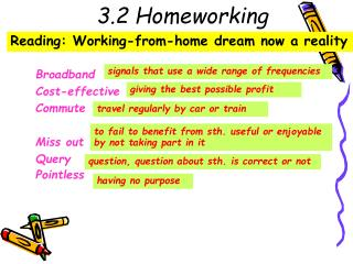 3.2 Homeworking