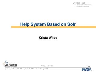 Help System Based on Solr