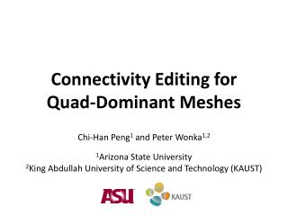 Connectivity Editing for  Quad-Dominant Meshes