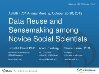 Data Reuse and Sensemaking among Novice Social Scientists