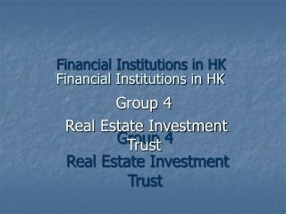 Financial Institutions in HK