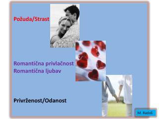 Požuda/Strast Romantična privlačnost Romantična ljubav Privrženost/Odanost