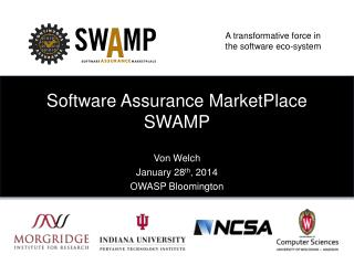 Software Assurance MarketPlace SWAMP