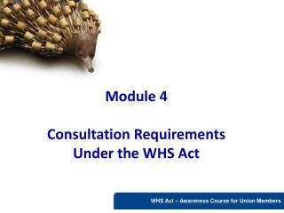 Module 4  Consultation Requirements Under the WHS Act