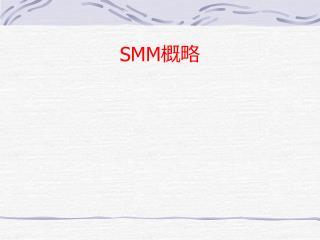 SMM 概略