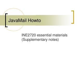 JavaMail Howto