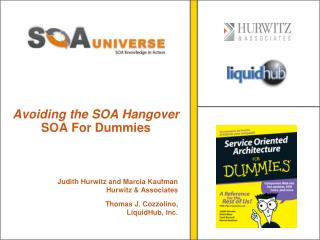 Avoiding the SOA Hangover SOA For Dummies