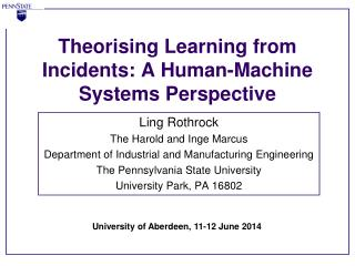 Theorising Learning from Incidents: A Human-Machine Systems Perspective