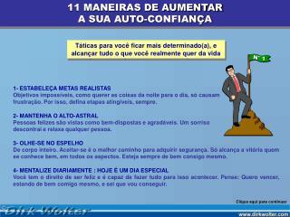 11 MANEIRAS DE AUMENTAR A SUA AUTO-CONFIAN A