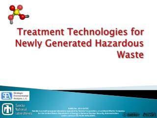 Treatment Technologies for Newly Generated Hazardous Waste