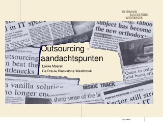 Outsourcing - aandachtspunten