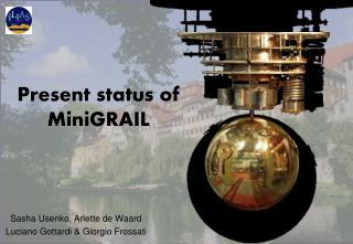 Present status of MiniGRAIL