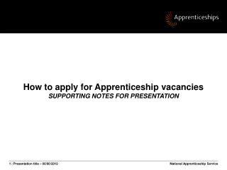 National Apprenticeship Service