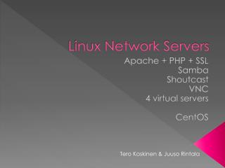 Linux Network Servers