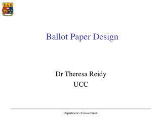 Ballot Paper Design