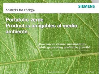 Portafolio verde Productos amigables al medio ambiente
