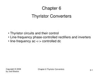 Chapter 6 Thyristor Converters