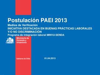 Postulación PAEI 2013 Medios de Verificación