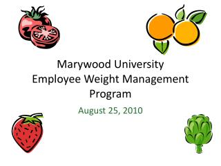 Marywood University Employee Weight Management Program