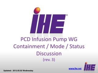 PCD Infusion Pump WG Containment / Mode / Status Discussion  (rev. 3)