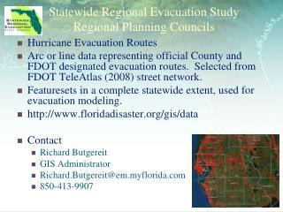Statewide Regional Evacuation Study  Regional Planning Councils