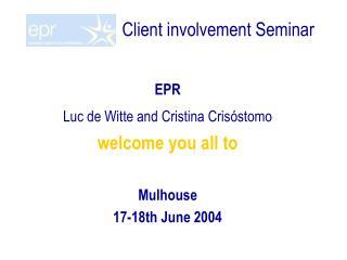Client involvement Seminar