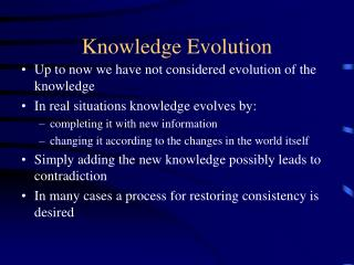 Knowledge Evolution
