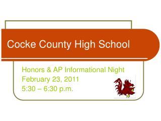 Cocke County High School