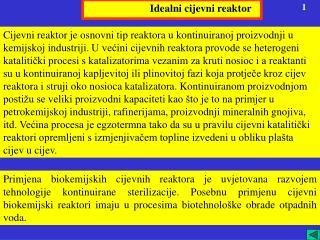 Idealni cijevni reaktor